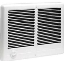 240V, 4000W, White Com Pak Twin, Double Fan Forced Wall Heater with Thermostat