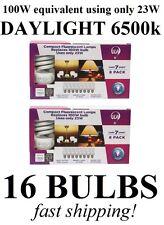 (16-Pack) DAYLIGHT 100W Equivalent 23-Watt 1600 Lumens ULA CFL Light Bulbs
