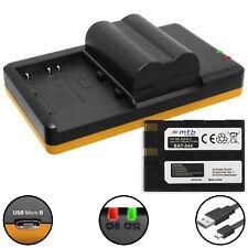 2 Akkus + Dual-Ladegerät EN-EL3 für Nikon D50, D70, D70s, D100