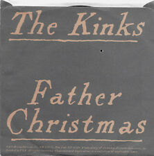THE KINKS - FATHER CHRISTMAS b/w PRINCE OF THE PUNKS  - ARISTA 45 + PIC. SLEEVE