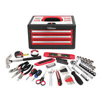 86  Piece Tool Kit With Tool Box Multiple Handheld Tools Screwdriver Hammer New
