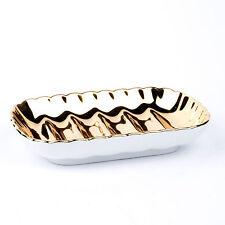 ILONA Seifenschale Porzellan Seifenablage gold DORADO soap dish made in Germany