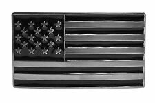 "FL102-50MM Men's Dark Side Black Gun Metal US American Flag Buckle fit 1.5"" Belt"