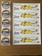 RAF Search And Rescue, Seaking Helicopter, SAR70, Stickers/Decals X10, Very Rare