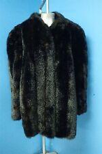 02570 Classic Soft Dark Brown Faux Fur Coat Jacket