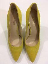 Nine West Tatiana Suede Pumps Women's Shoes Yellow 7-Original Retail $79