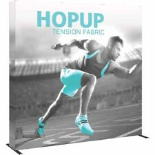 HopUp Straight 3x3 Trade Show Display with Full Fitted Graphic