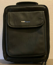 """CDProjects BLACK LEATHER SOFT Travel Bag/Laptop Case 10""""x 14"""""""