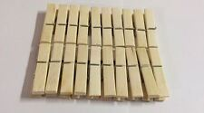 20x NATURAL BAMBOO WOODEN CLOTHES PEGS CLIPS PINE WASHING LINE DRY LINE WOOD PEG