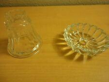 "2 Replacement Glass Vintage 1 3"" & 1 2 1/3"" diameter Glass Chandelier Lamp Parts"