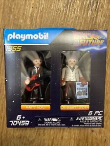 Playmobil Back to the Future Marty McFly Doc Brown Figure 2-Pack 70459 IN STOCK