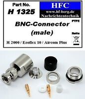 1 Stück BNC-Stecker für Ecoflex 10 / Aircom Plus / H 2000 Flex® - 50 Ω (H1325)