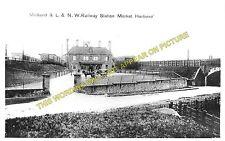 Market Harborough Railway Station Photo. London & North Western & Midland. (1)