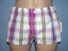 NEW Aeropostale Junior Girls White Plaid PJ Pajama Shorty Shorty Shorts XXS