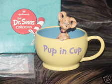 Hallmark Gallery Dr. Seuss Pup In Cup Figurine Mint In Box First Edition