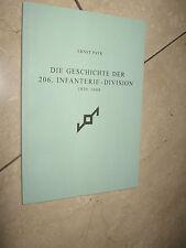 Histoire de la 206. Infanterie-Division 1939 - 1944