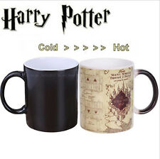 Harry Potter Marauder's Map Color Change Magic Heat Sensitive Tea Coffee Mug Cup