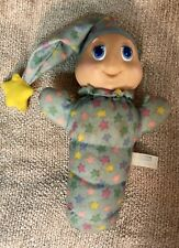 VINTAGE GLO GLOW WORM  STUFFED ANIMAL PLUSH BRAND TOP TOYS / 80'S
