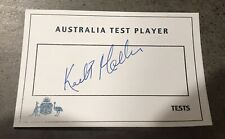 Keith Miller Rare White Australian Test Player Card Hand Signed With COA
