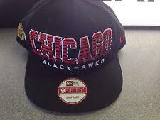 CHICAGO BLACKHAWKS NEW ERA SNAPBACK CAP FADE GREEN UNDERVISOR VINTAGE CLASSIC