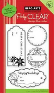 New Hero Arts HOLIDAY TAGS Clear Stamps Merry Christmas To From Snowman Season
