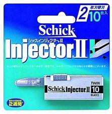 Schick Razor Blade Refill Injector II 10P New Japan
