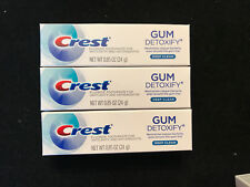 3 SAMPLE Tubes of Crest GUM DETOXIFY DEEP CLEAN Toothpaste 0.85 Size  Bulk Lot