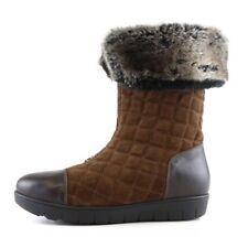 Aquatalia Hovercraft Mid Calf Fur Boots Brown Women Sz 9 6793*