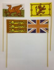 SAND FLAGS OF THE BRITISH ISLES PACK OF FOUR BEACH SUMMER HOLIDAY FLAG