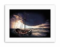 SAILING SHIP STORMY SEA GHOST DESERTED WAVES Painting Canvas art Prints