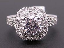 26c2cc445 Scott Kay 14k White Gold Round Diamond Halo Engagement Promise Ring M1618