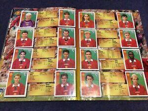 Merlin's Premier League 97 sticker Team Pages Manchester United