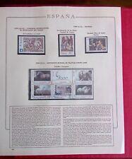 ALBUM SELLOS ESPAÑA + 57 HOJAS OLEGARIO CULTURAL 1996/99 MONTADAS COMPLETO