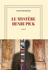 David   FOENKINOS ** Le mystère  Henri  PICK ** PARU LE : 01/04/2016