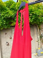 Size 14-16  stunning sparkly Red evening gown