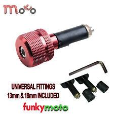 Universal Moto Barends 13mm-18mm Bar End Pesos Par Rojo be111