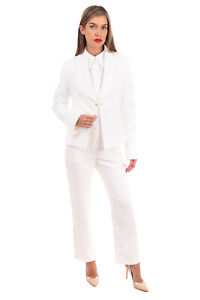 RRP €185 MANILA GRACE Crepe Blazer Jacket Size 44 / M Fully Lined Made in Italy