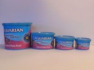 AQUARIAN TROPICAL FLAKE FOOD, 13g 25g 50g 200g Aquarium Fish Food