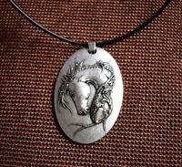 HORSE & WESTERN JEWELLERY JEWELRY HORSE HEAD PENDANT NECKLACE - SILVER