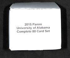 2015 Panini Collegiate_University of Alabama_Complete 80 Card Set_Joe Namath
