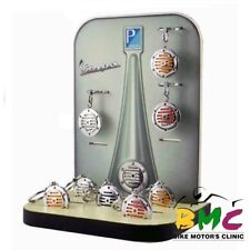Llavero Acero Vintage Claxon Vespa Cromo/Verde/Green Steel Shield Keychain