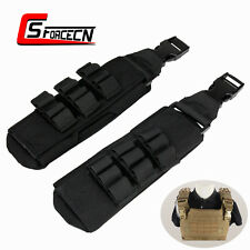 1000D Tactical Molle Shoulder Pads for 6094 Plate Carrier Vest Black Military