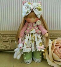 Tall Fée Princesse Poupée Tissu Porte-clés Tilda poupée poupée de chiffon fait main 6 in environ 15.24 cm