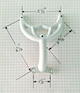 "36""- 42"" White Ceiling Fan Blade Arm Replacement Bracket, Hunter & Hampton Bay"
