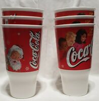 Coca Cola - 2000 Holiday Edition - Plastic Cups (set of 6)