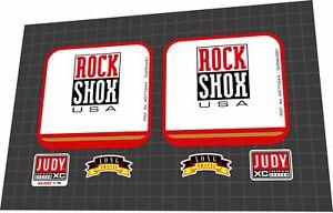 ROCKSHOX Judy XC 1998 Fork Decal Set