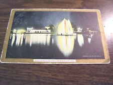 ANTIQUE - ELECTRIC FOUNTAIN WILLOW GROVE PARK PHILADELPHIA PA - 1907  POST CARD