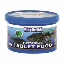 King British Plecostomus Tablets 300g (5 x 60g) Catfish Bottom Feeders Plecs