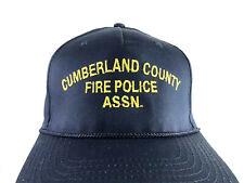 Vintage Cumberland County Fire Police Association Pennsylvania Cap Hat Snapback