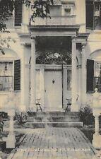 Wiscasset Maine~The Door of the Nickels-Sortwell House @ 121 Main Street c1940